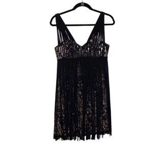 NYE BCBG MAXAZRIA Black Lace Dress 6